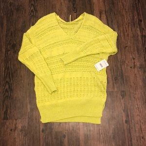 NWT Free People Hot Tropics Knit Weave Sweater